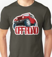 Red 4X4 off-road Jeep T-Shirt