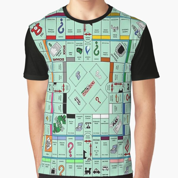 Monolopy Board Game Design -  Graphic T-Shirt