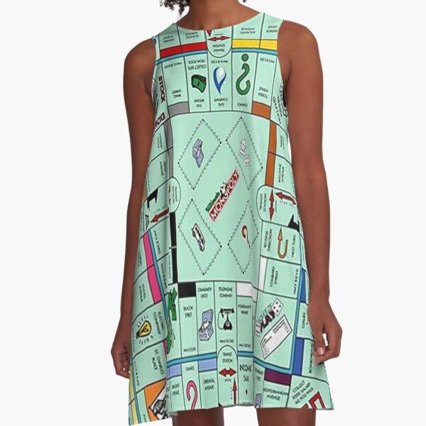 Monolopy Board Game Design -  A-Line Dress