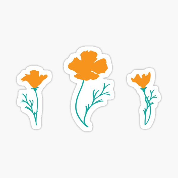 California Golden Poppies Sticker