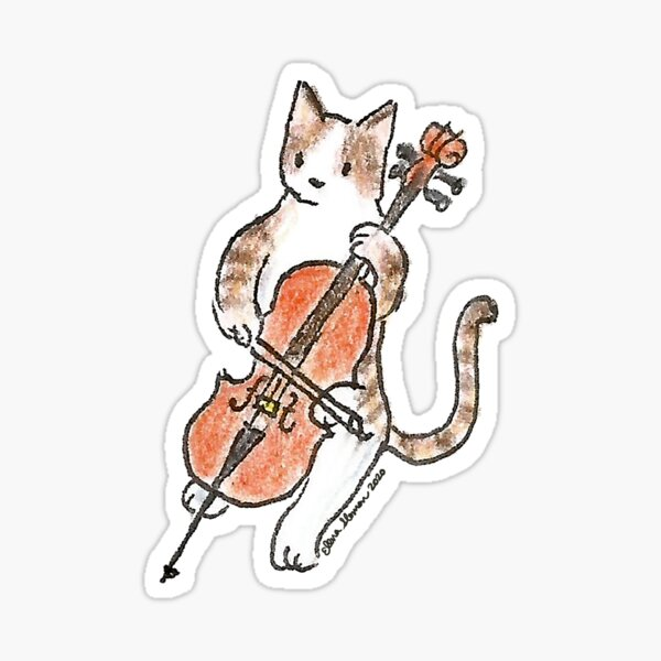 Meowtet: Cello II Sticker