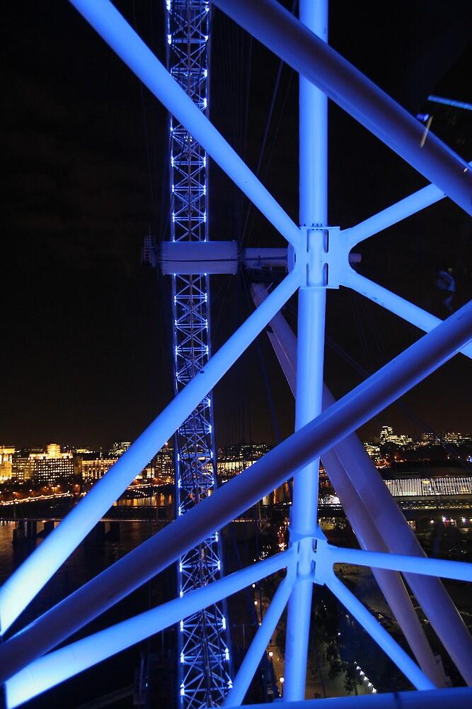 Blue Bicycle Wheel, London Eye by Jane McDougall