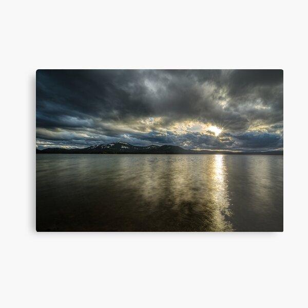 Sunset Lake Davis Metal Print
