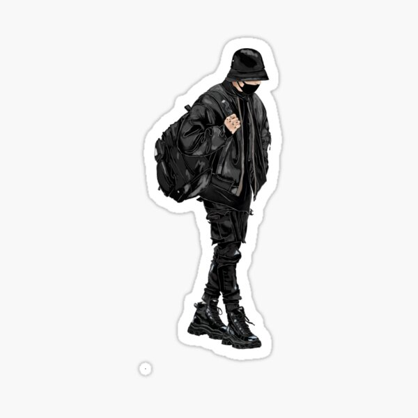 Jungkook Airport Fashion Sticker