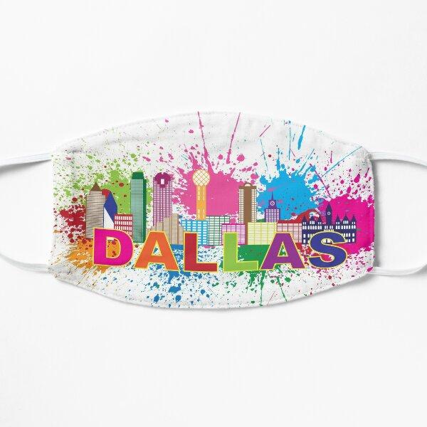 Dallas Skyline Paint Splatter Color Illustration Mask