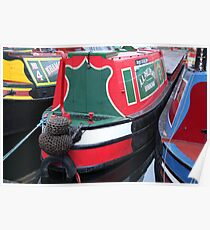 Canal Boats, Birmingham Poster