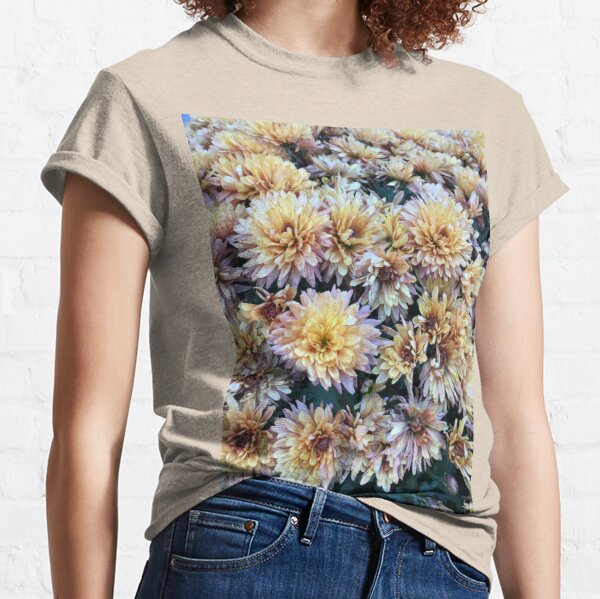Gift for Gardener - Mumsified - Light Yellow and Pink Mums Classic T-Shirt