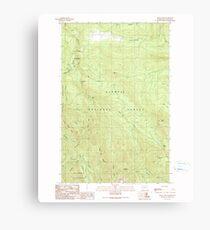 USGS Topo Map Washington State WA Mount Zion 242600 1990 24000 Canvas Print