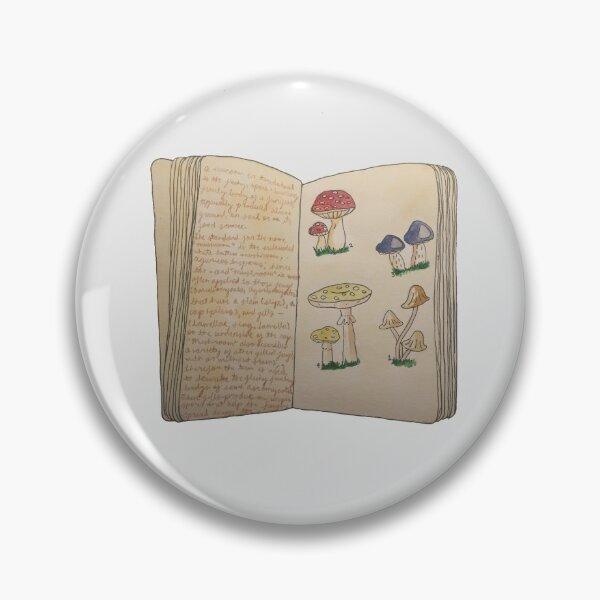 Watercolour Mushroom/Toadstool Book Pin