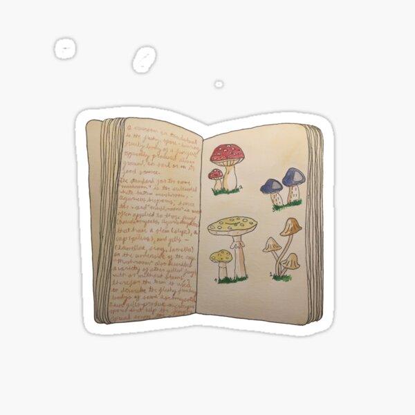 Watercolour Mushroom/Toadstool Book Sticker