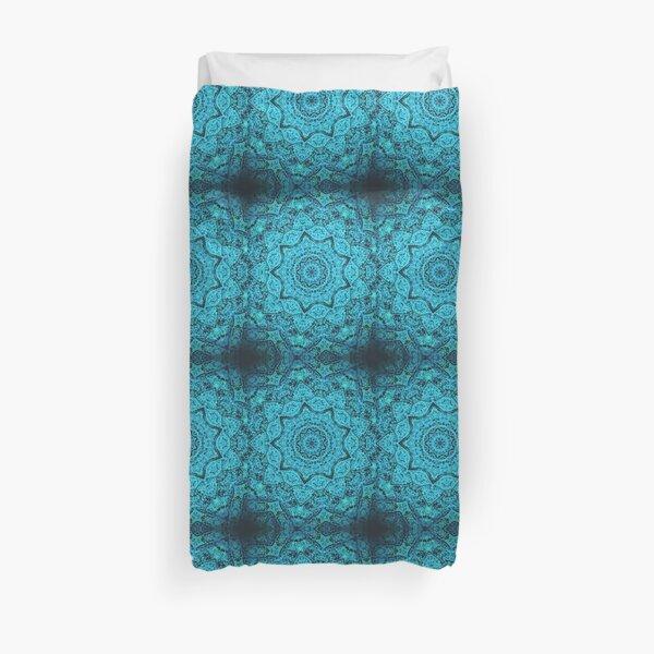 Divine Turquoise Mandala Duvet Cover