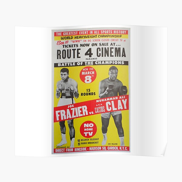Ali v Frazier The Fight Of The Century  Poster