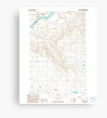 USGS Topo Map Washington State WA Alameda Flat 239780 1989 24000 Canvas Print
