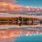 Marina Sunset Queensland Australia by PhotoJoJo