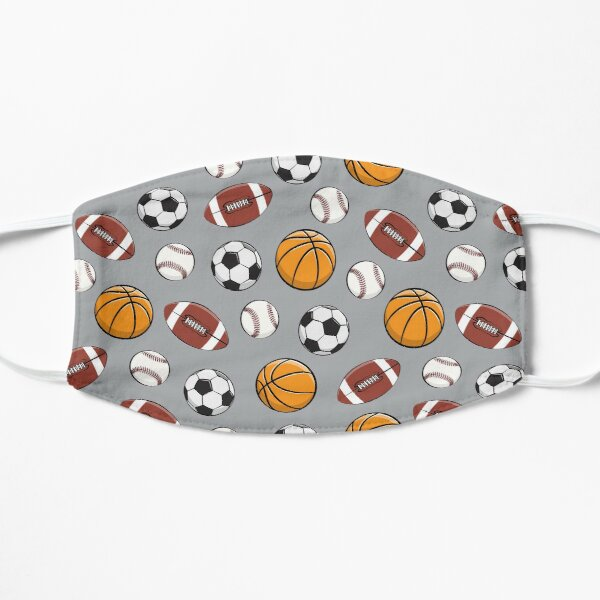 Sports - Basketball, baseball, football, soccer - gray Mask
