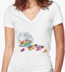 Jelly Bean Women's Fitted V-Neck T-Shirt