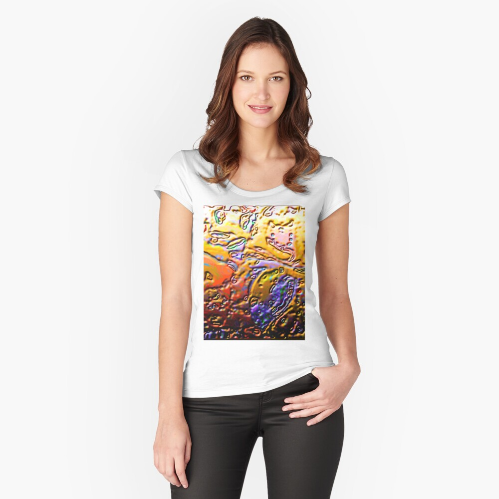 0365 Abstract Thought Women's Fitted Scoop T-Shirt Front
