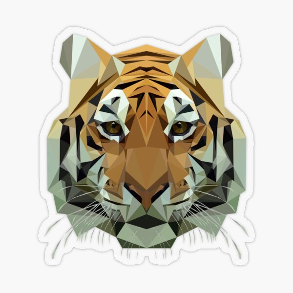 Tiger Transparent Sticker