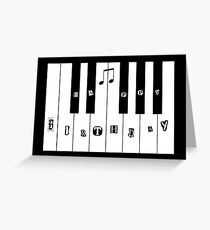 Piano keyboard happy birthday  Greeting Card
