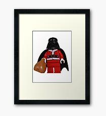 Santa Darth Vader Framed Print