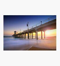 Huntington Beach Pier Sunset Photographic Print