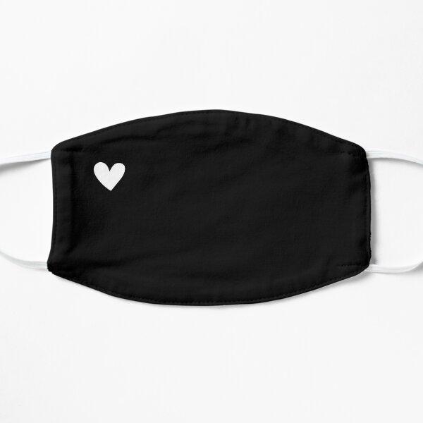 Heart Cute Mask Black Style Flat Mask