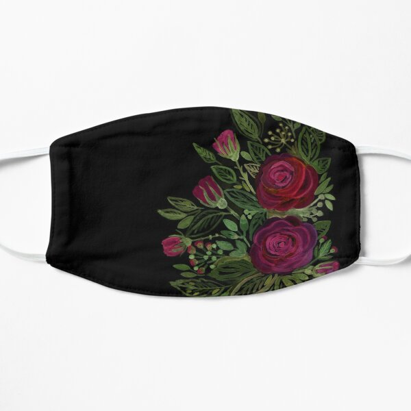 A bouquet of roses on a black background .  Mask