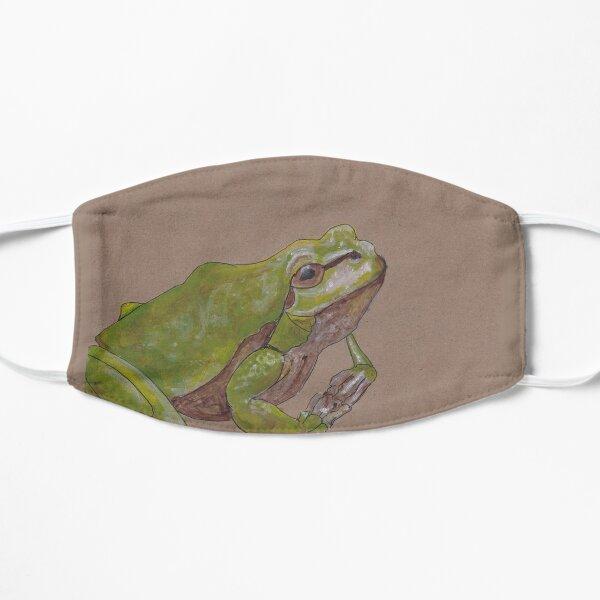Frog who might be plotting something Flat Mask