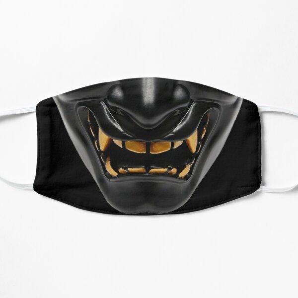 Oni Mask Dark Samurai Flat Mask