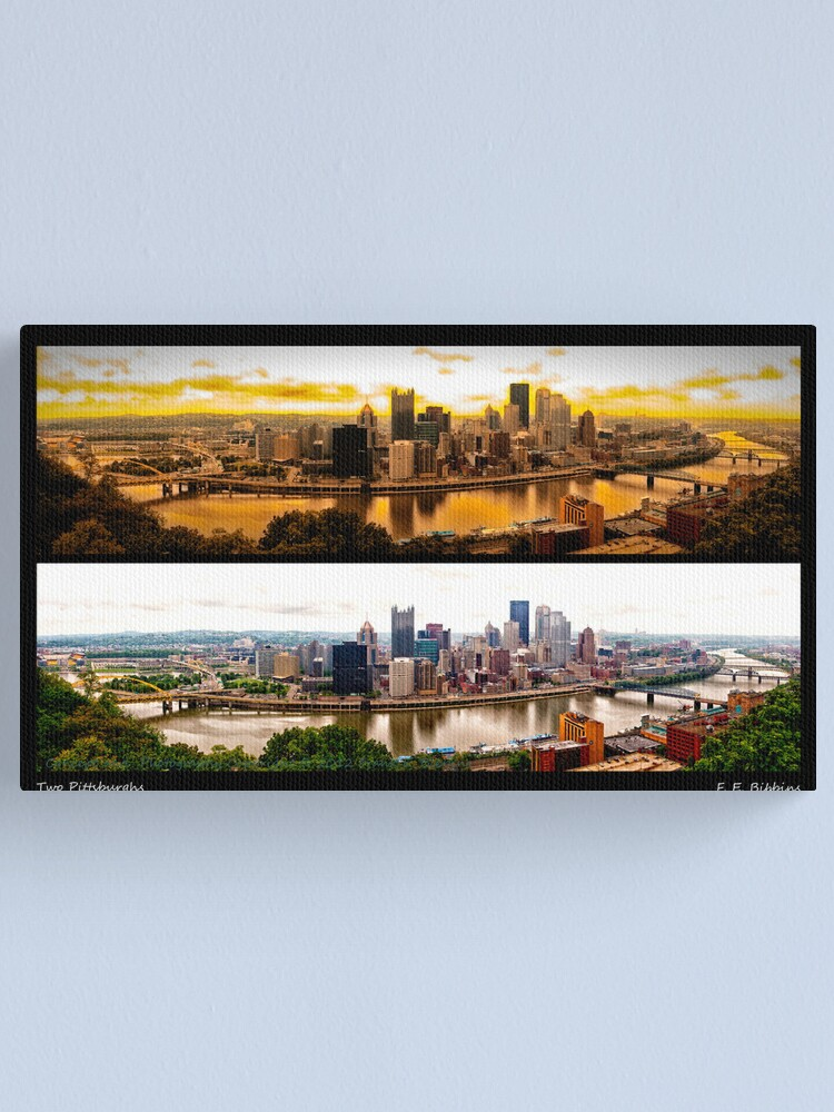 Alternate view of Two Pittsburghs Canvas Print