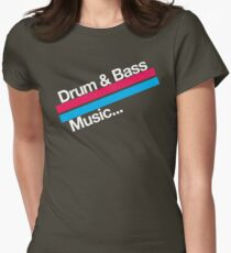 Drum & Bass F2 (dark) Womens Fitted T-Shirt
