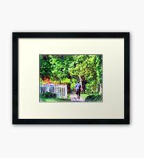 Lovely Day for a Walk Framed Print
