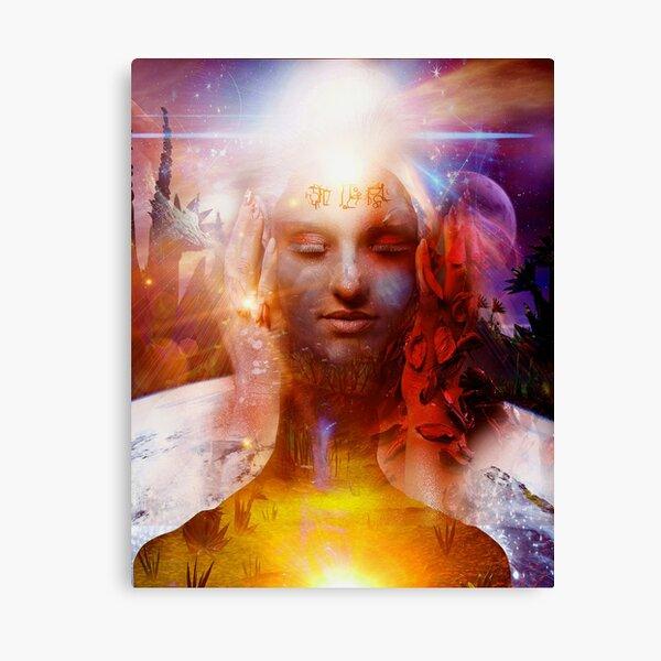 Mystical Starseed Alien Canvas Print