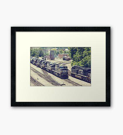 Passing Trains (Version 2) Framed Print