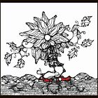 Uprooted Flower Walking by Nancy  Clothier