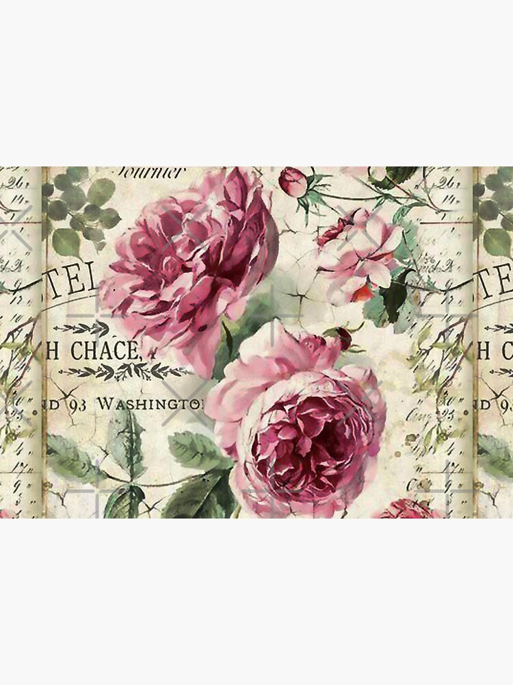 French Shabby Chic Pink Roses by SherDigiScraps