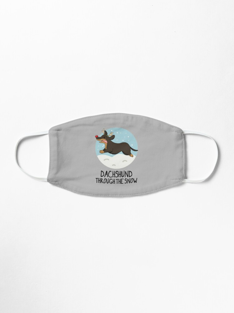 Alternate view of Dachshund Christmas Pun Mask