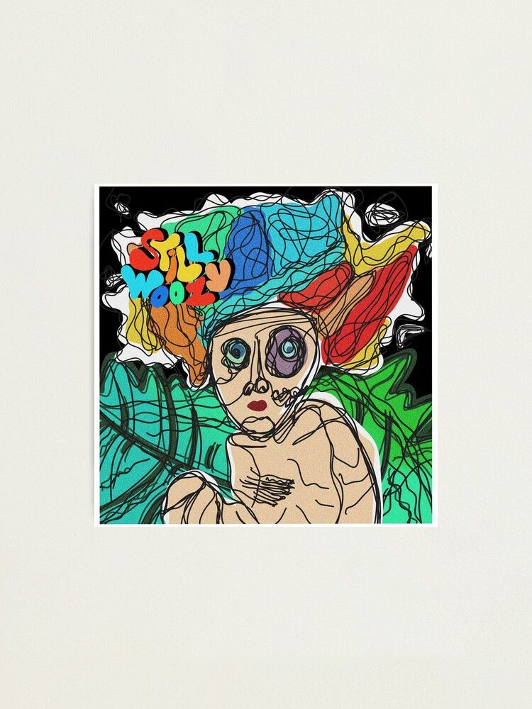 Alternate view of Still Woozy album cover doodle Photographic Print
