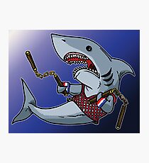 Shark with Nunchucks Photographic Print