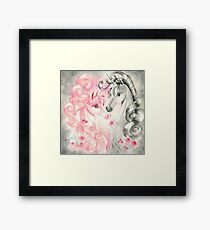 Unicorn Kiss Framed Print