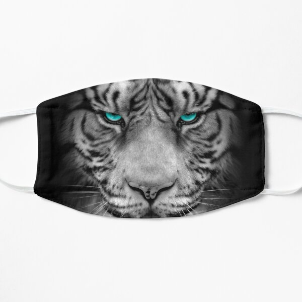 3D White Tiger's head Mask