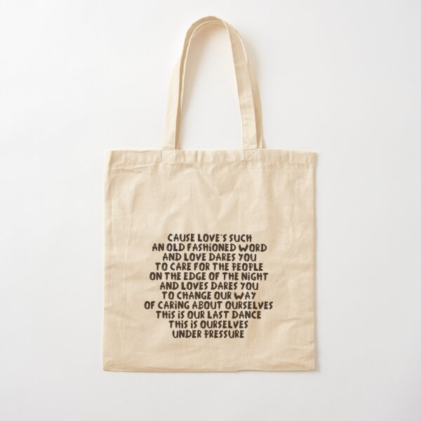 Love is such an old fashion word Cotton Tote Bag