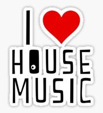 i love house music Sticker