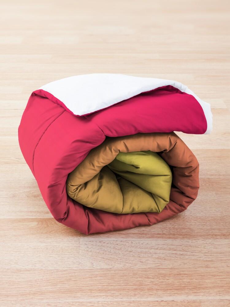 Alternate view of modern chic girly hot pink orange fuschia ombre Comforter