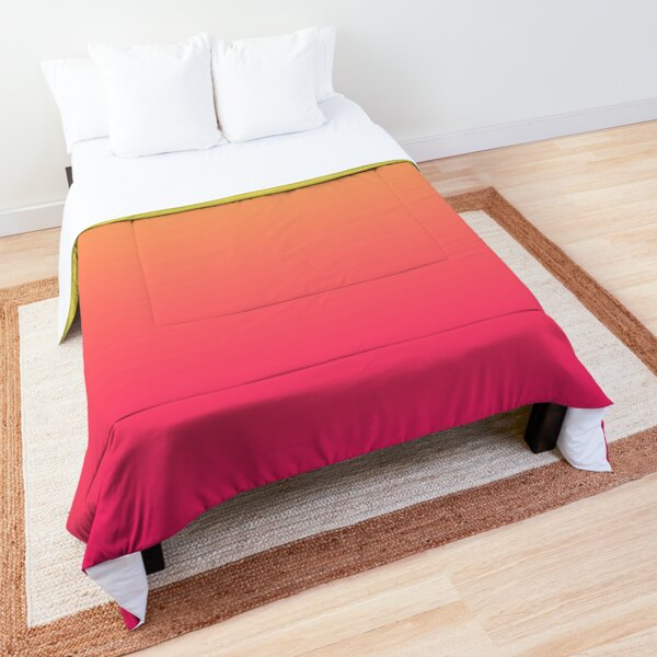 modern chic girly hot pink orange fuschia ombre Comforter
