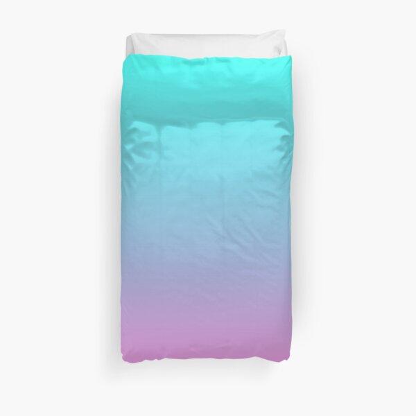mermaid colours pastel fuchsia pink turquoise aqua blue Duvet Cover