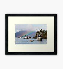 Opening Day-Sitka Sac Roe Herring Fishery Framed Print