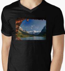 Glacier National Park Mens V-Neck T-Shirt