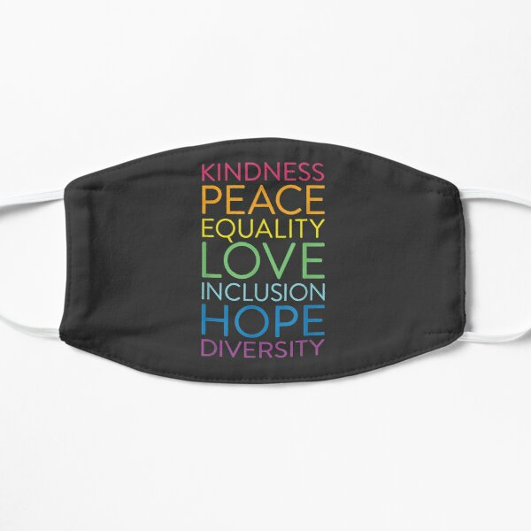 Peace Love Inclusion Equality Diversity Human Rights Flat Mask