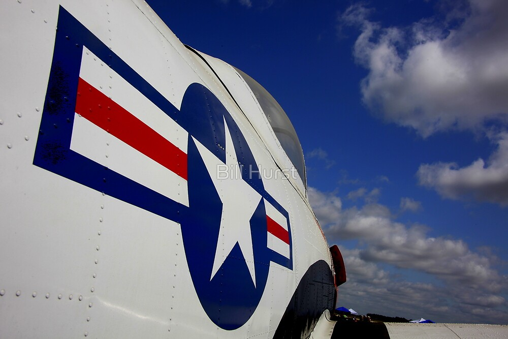 WWII Airplane - US Airforce by Bill Hurst